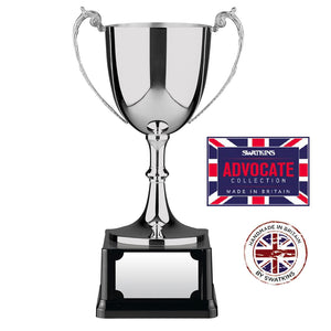 Swatkins SANC6 Nickel Plated Advocate Cup Award Trophy In 6 Sizes - engraving-gallery.com