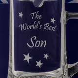 The World's Best Son - Engraved Tankard Beer Pint Glass - engraving-gallery.com