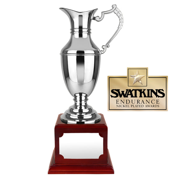 Swatkins WBC29 Nickel Plated Endurance Claret Jug Award Trophy In 4 Sizes - engraving-gallery.com