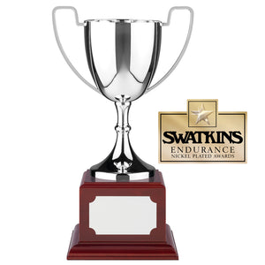 Swatkins WBC5 Nickel Plated Endurance Cup Award Trophy In 6 Sizes - engraving-gallery.com