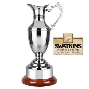 Swatkins WC29 Nickel Plated Endurance Claret Jug Award Trophy In 4 Sizes - engraving-gallery.com