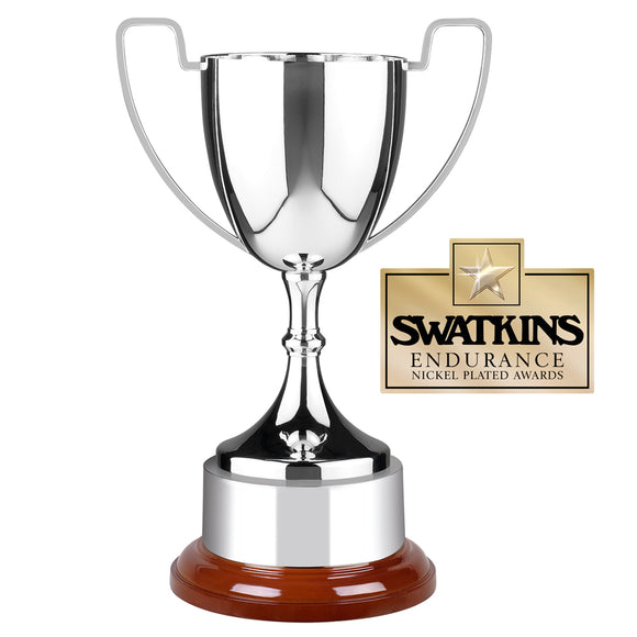 Swatkins WC5 Nickel Plated Endurance Cup Award Trophy In 6 Sizes - engraving-gallery.com