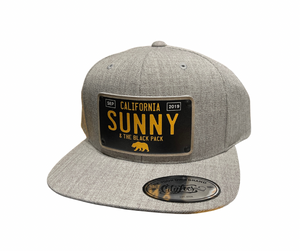 Sunny and The Black Pack 2019 Limited Edition Snapback Hat, Light Grey