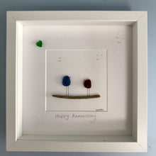 Load image into Gallery viewer, Sea Glass Art - 'Happy Anniversary' - Made to Order