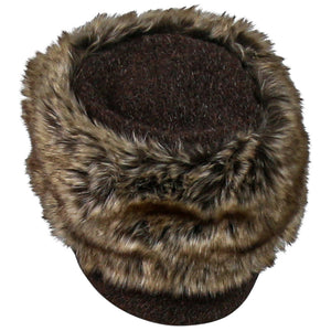 Lillie and Cohoe Trapper Jane Hat, Mohair with Brown Brim and Top