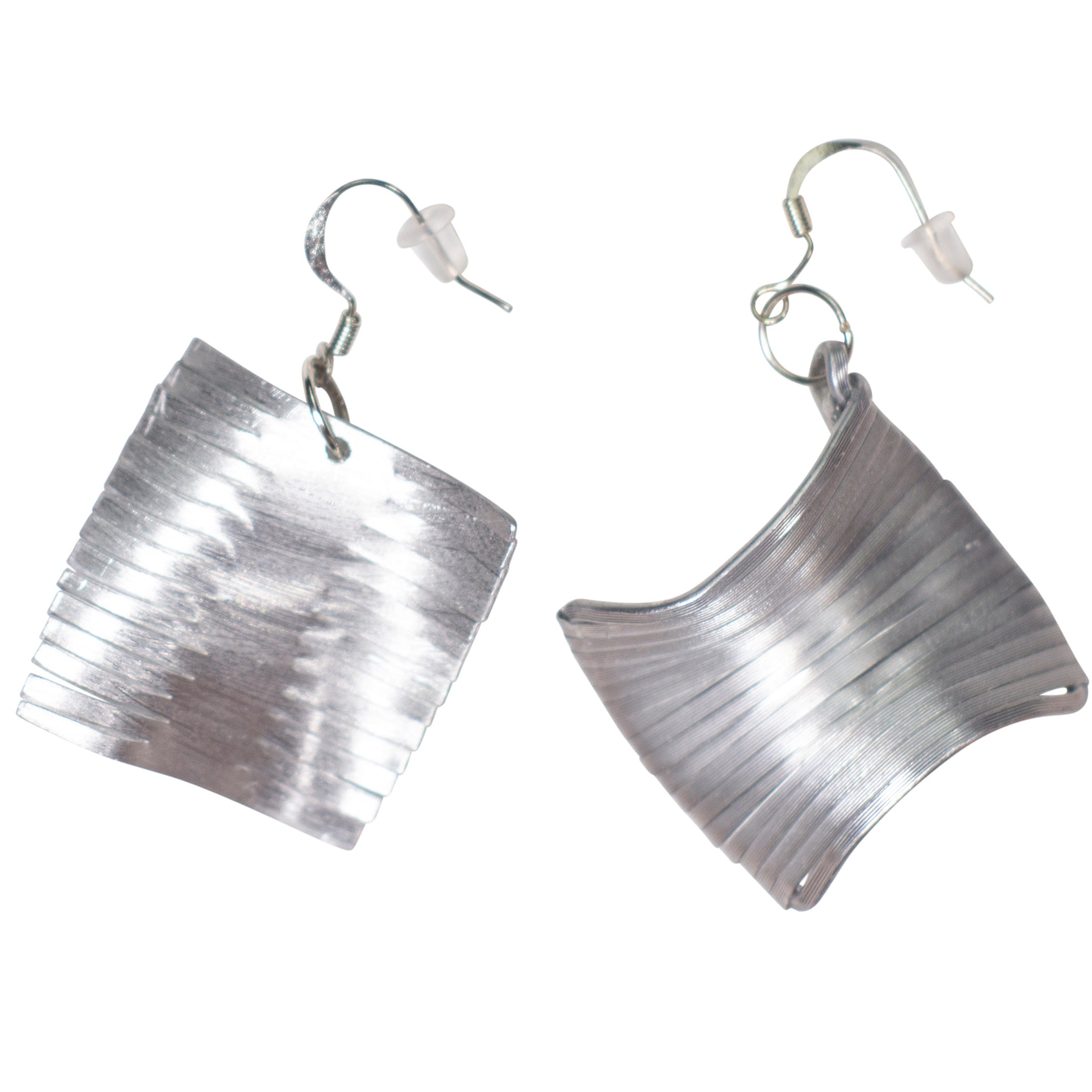 Recycled Croatian aluminum earrings