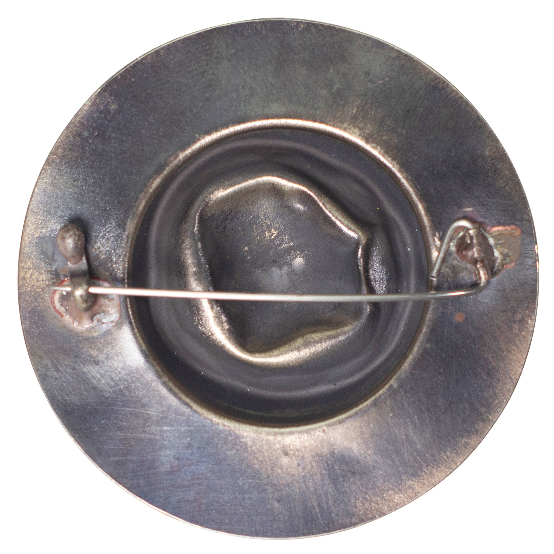 Forged Metal abstract button styled round pin