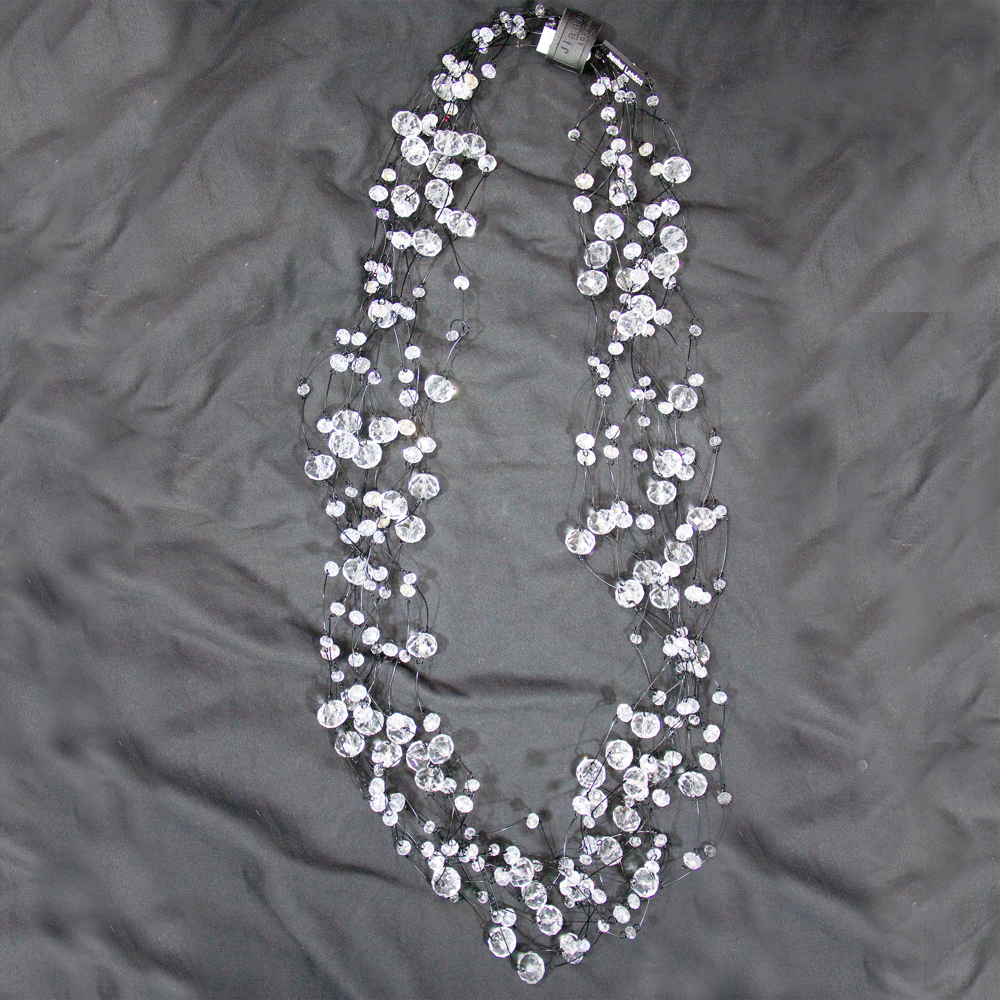 10 strand swarovski crystal necklace by Jianhui of London