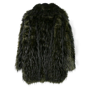 Rundholz Faux Fur Jacket, Dark Green