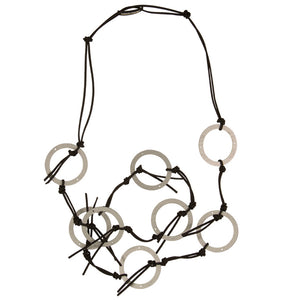 JIANHUI of London Wood Circle Necklace