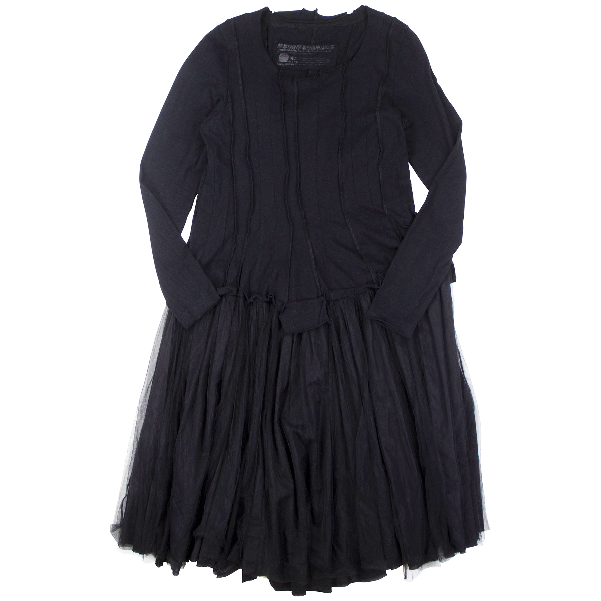 Rundholz Tulle Layered Dress in Black