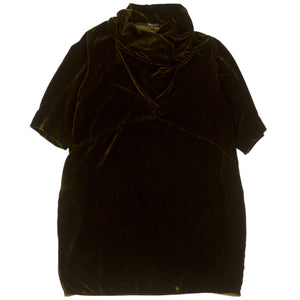 Grizas Dark Olive Velvet Dress