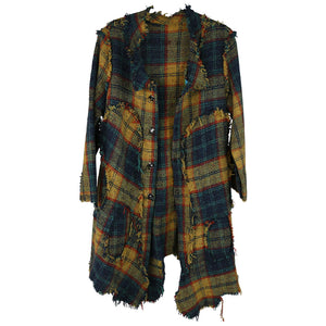 Skif Plaid Patch Coat, Yellow