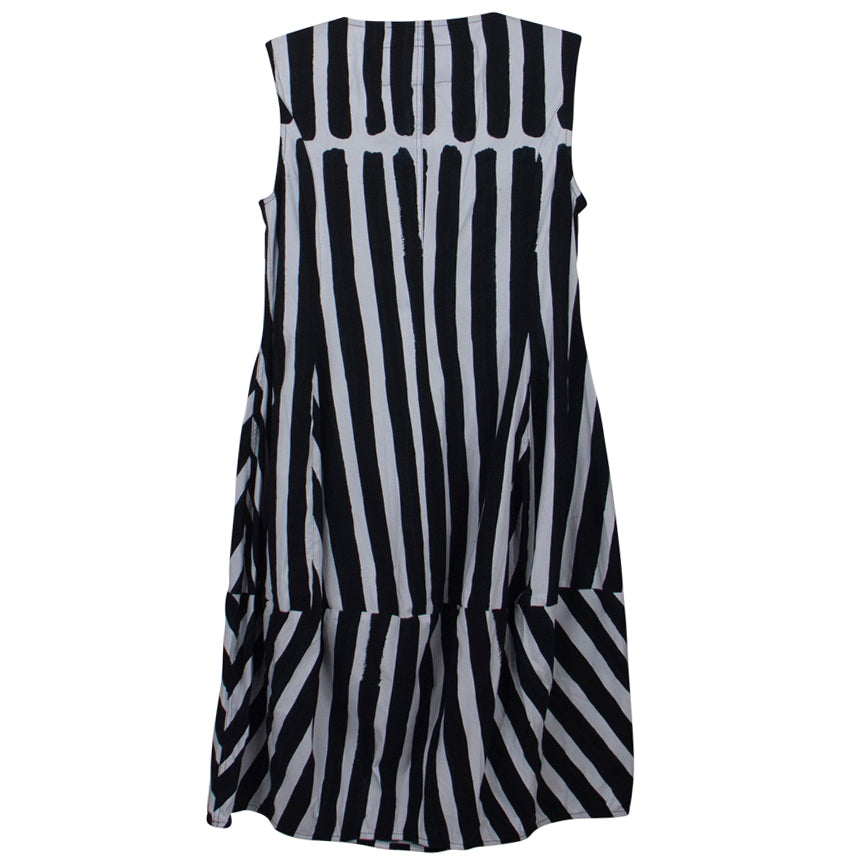 Rundholz - Black Label Bold B/W stripe 5 pocket Dress