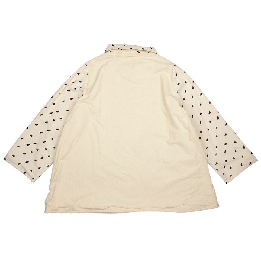 Mao Mam Side Patch Fleece Beige Geo & Solid Side Panel Jacket