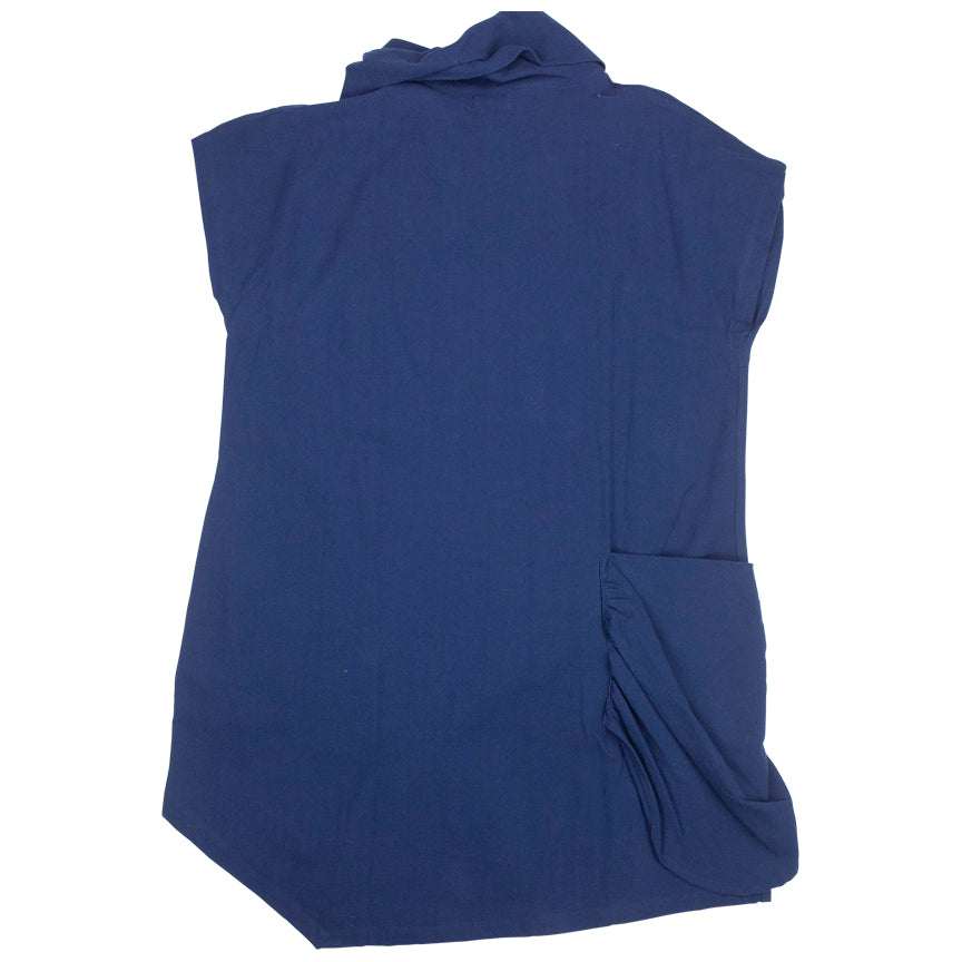 Mao Mam Navy Cowlneck Tunic Solid