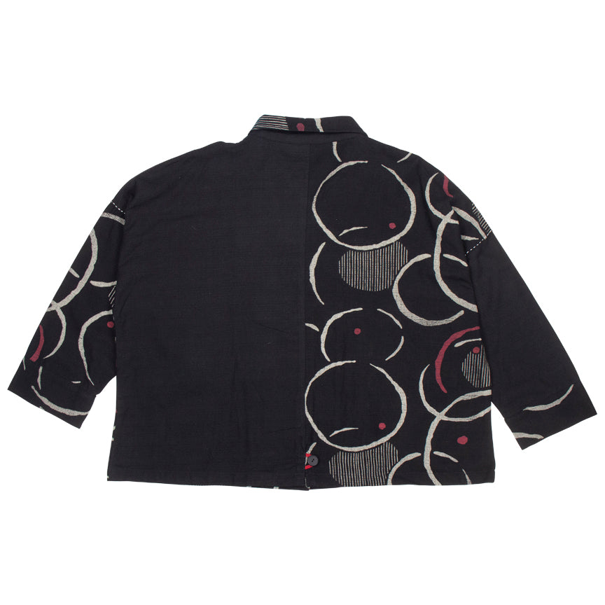 Mao Mam Black Panel Jacket Red Point Print