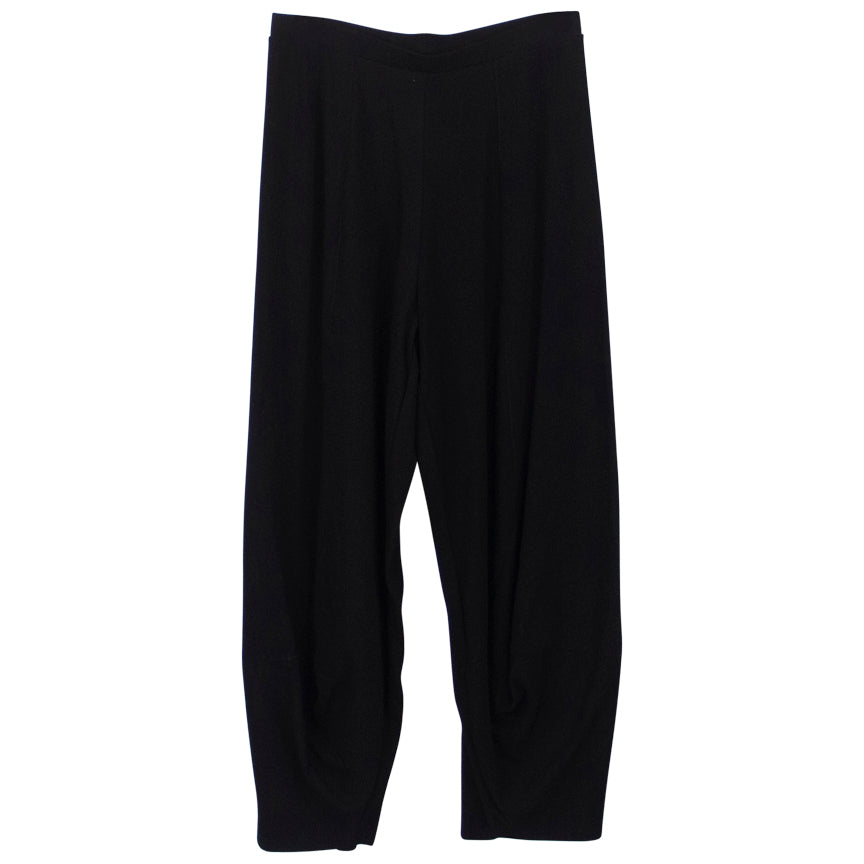 M. MATTHILDUR Black Relaxed Knee  Pant