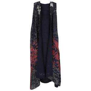 Mieko Mintz Pleated Maxi Vest, Twilight