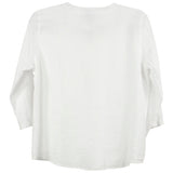 Color me Cotton White rounded Neckline Top