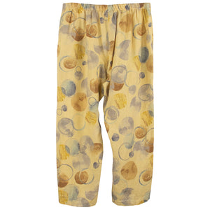 Color me Cotton Yellow Print Capris