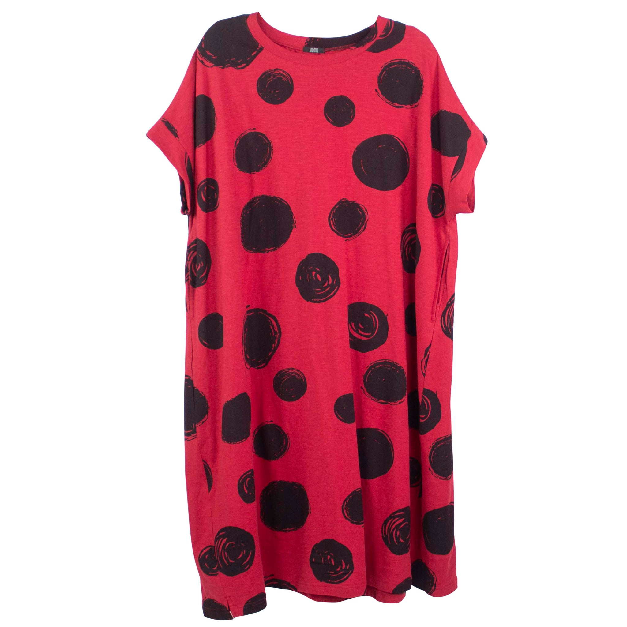 Moyuru Red and Black Print Dress