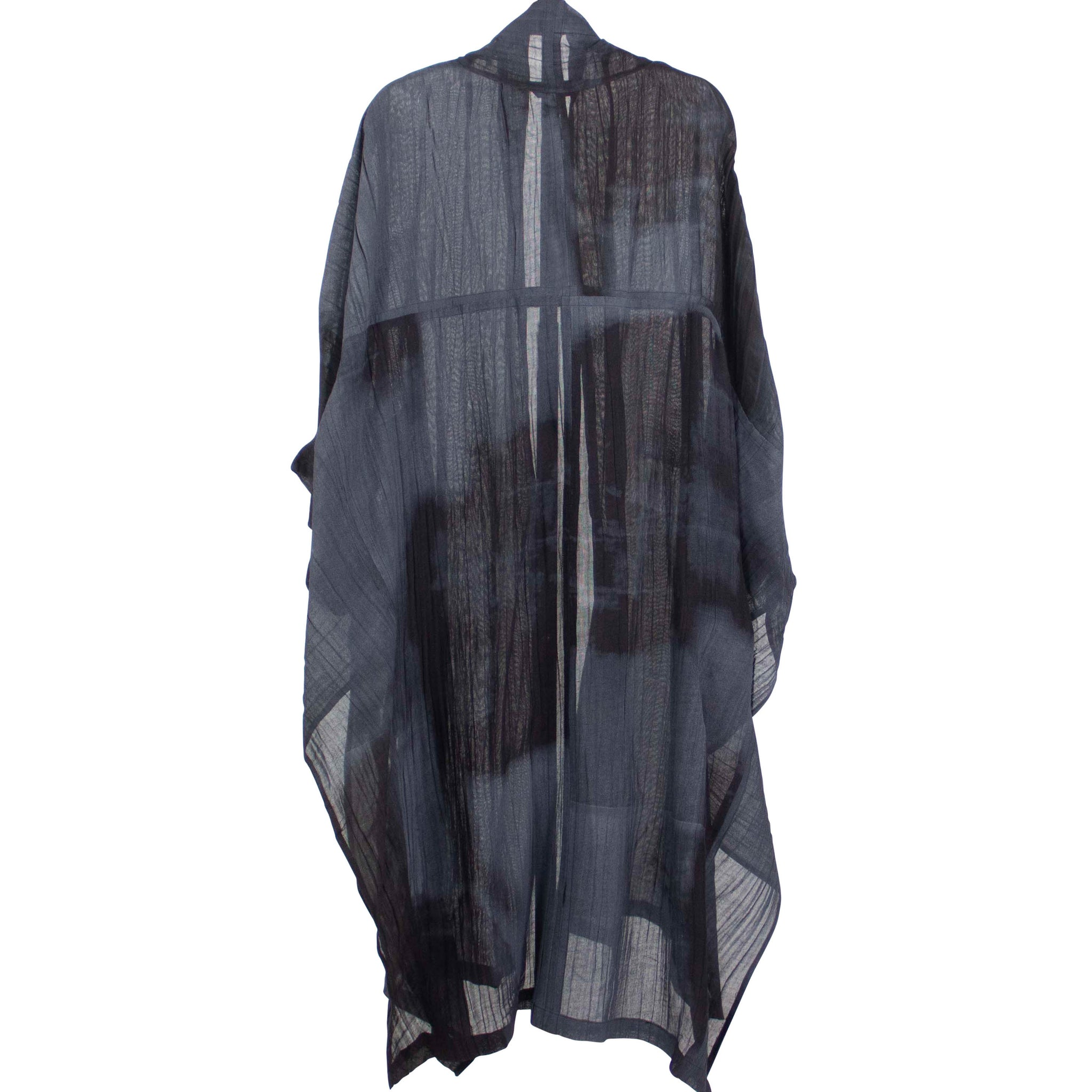 Moyuru Black & Grey Print Duster