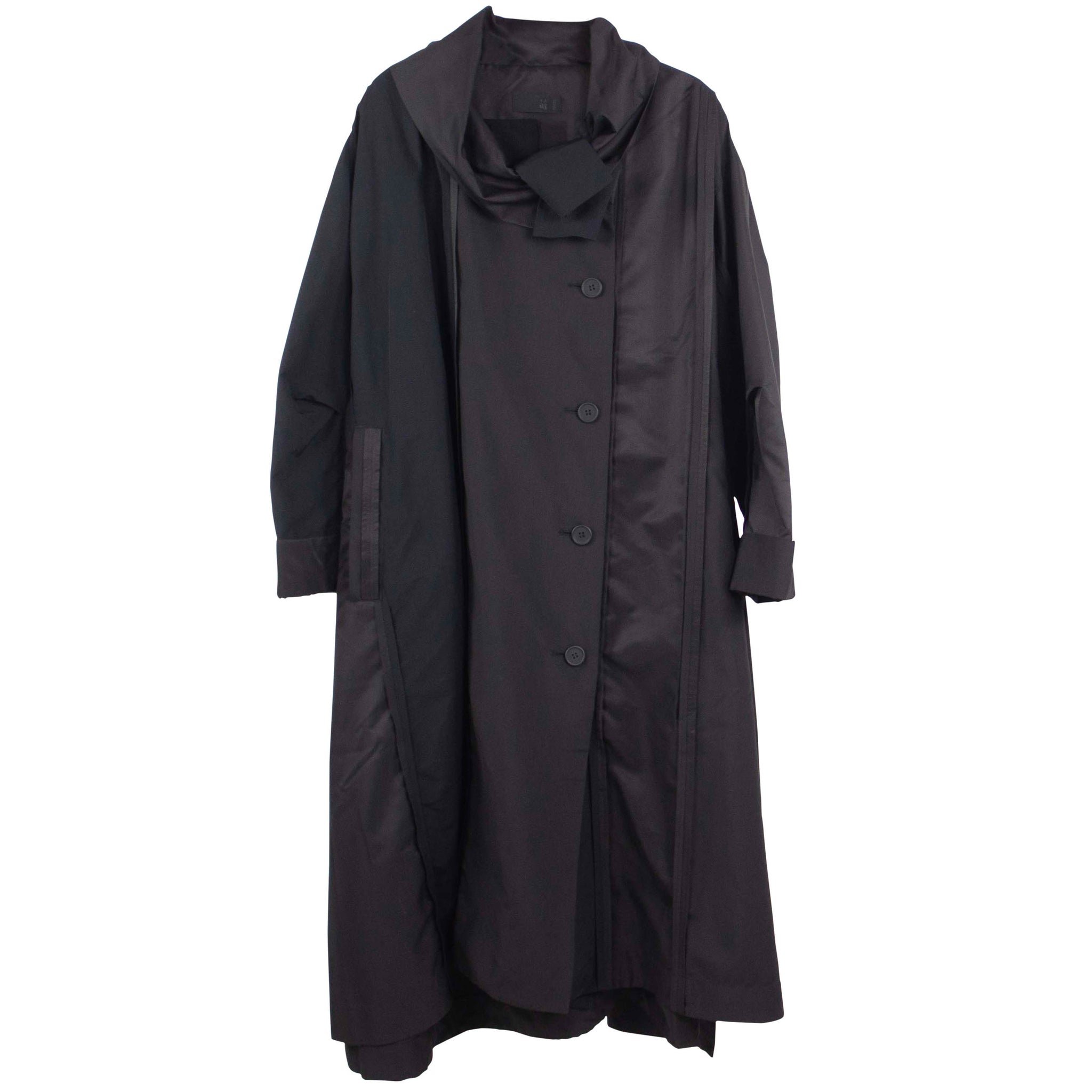 Moyuru Black Button Down Raincoat