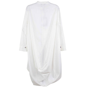 Moyuru White Cotton Button Down with Cutaway