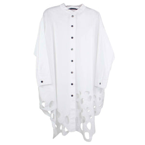 Moyuru Not Your Everyday White Cotton Shirt