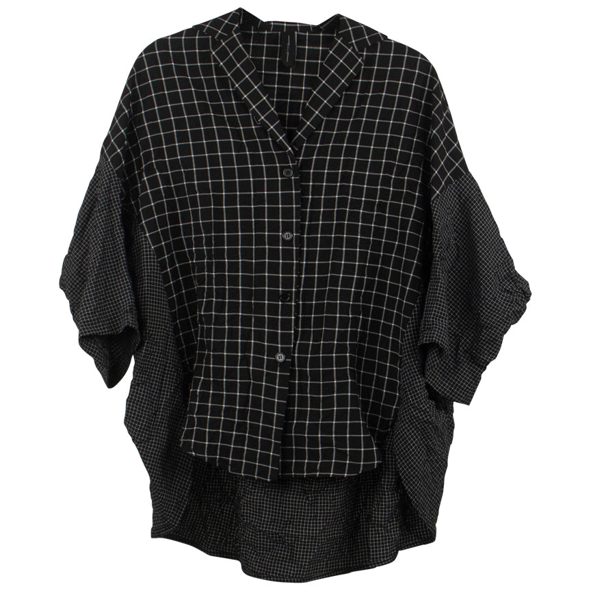 Amma Drop Shoulder Button Up