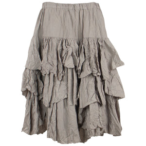 Amma Tiered Taffeta Skirt