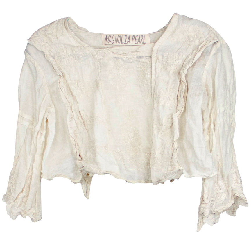 Magnolia Pearl Grete Cropped Blouse, Moonlight