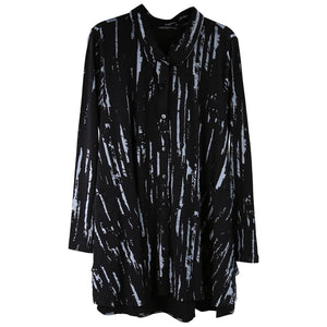 Tulip Lauryn Tunic, Black/Gray Multi Colored