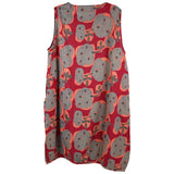 Mao Mam Panel Jumper, Red Grey Floral