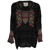 Johnny Was Anshi Silk Blouse, Black