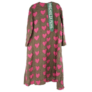 Magnolia Pearl Linen Heart Emery Coat, Peace