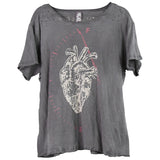 Magnolia Pearl Full Heart Tee, Top 922 Ozzy