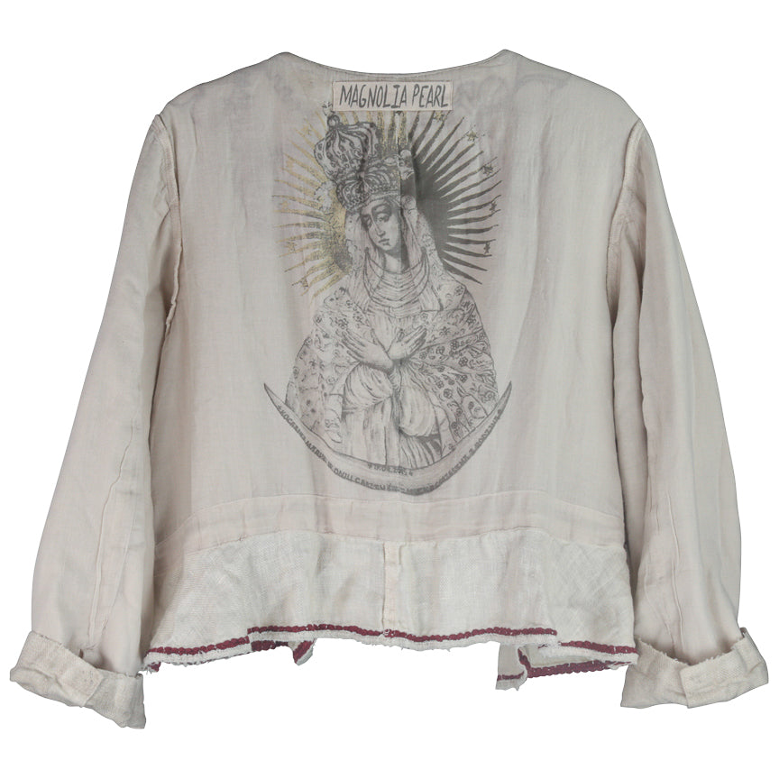 Magnolia Pearl Juno Jacket With Embroidery, Moonlight