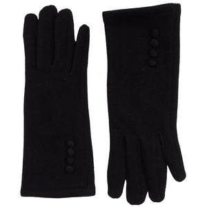 J&X Black Polyester and Cotton Gloves
