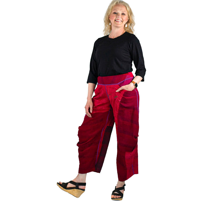 Mieko Mintz Jaipur Patch Knee Tuck Pants