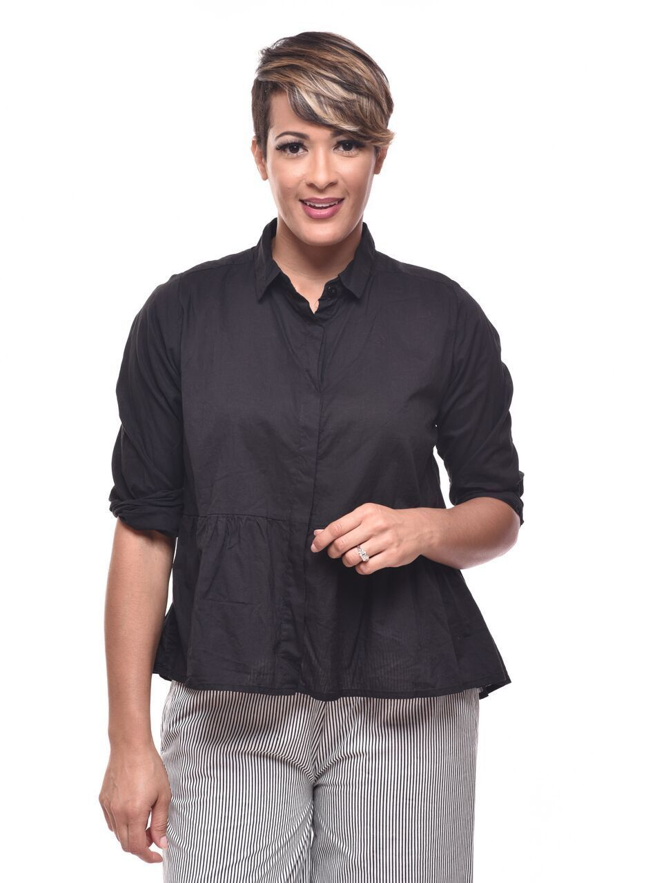 Tulip Prairie Shirt, Black