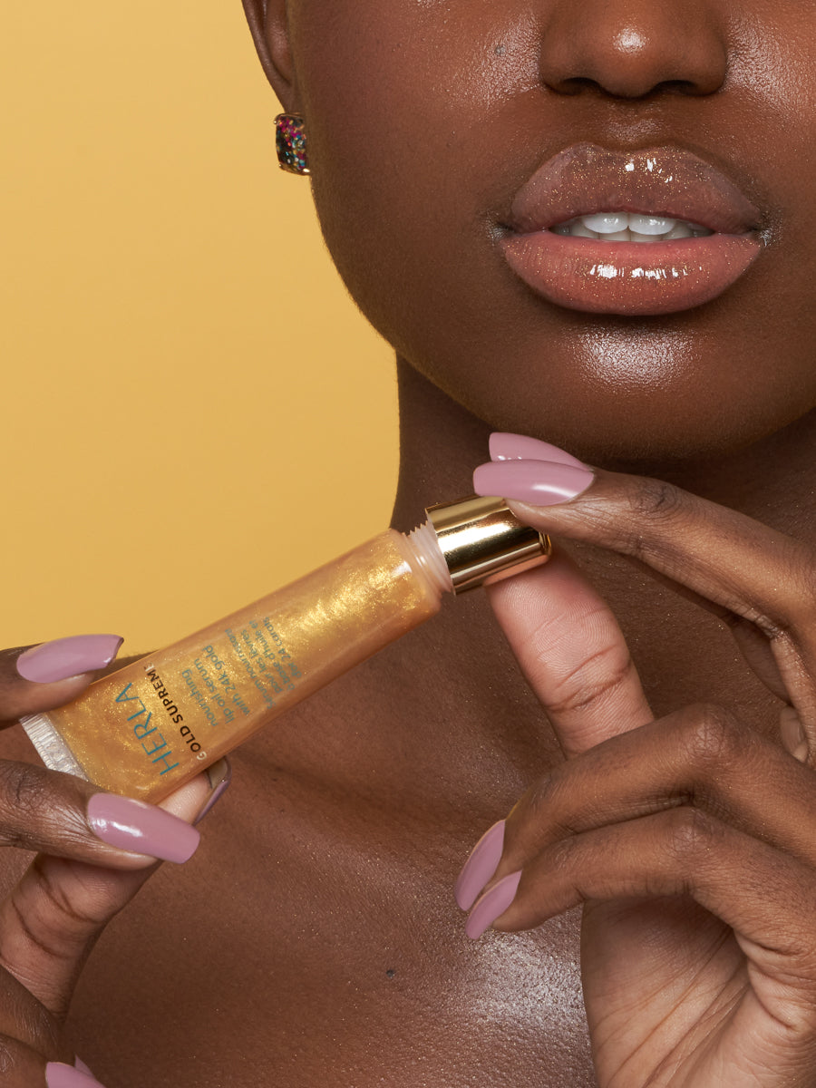 nourishing lip oil serum with 24k gold