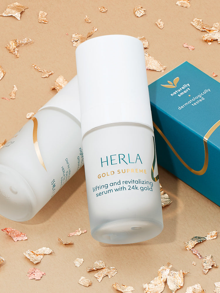 lifting and revitalizing serum with 24k gold