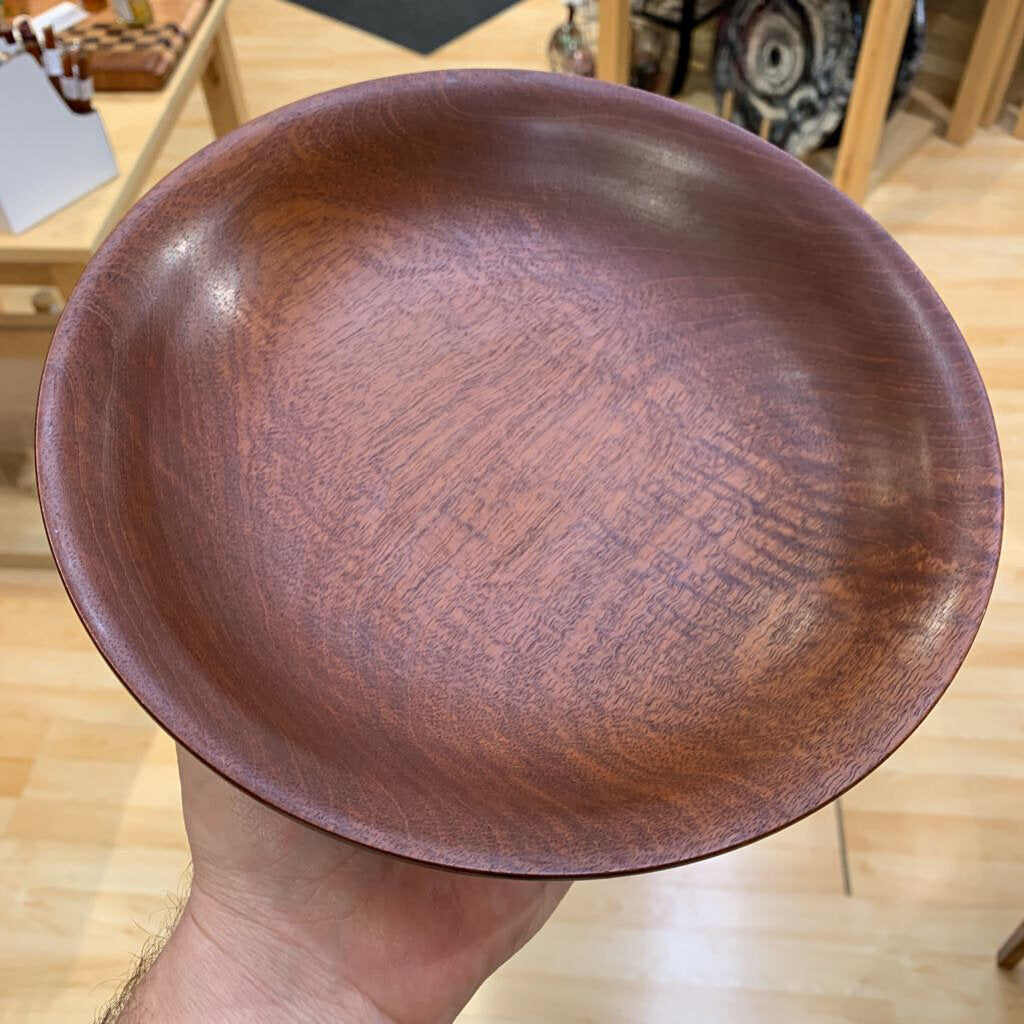 "African Pear Bowl 9"" Round & 2"" Deep"