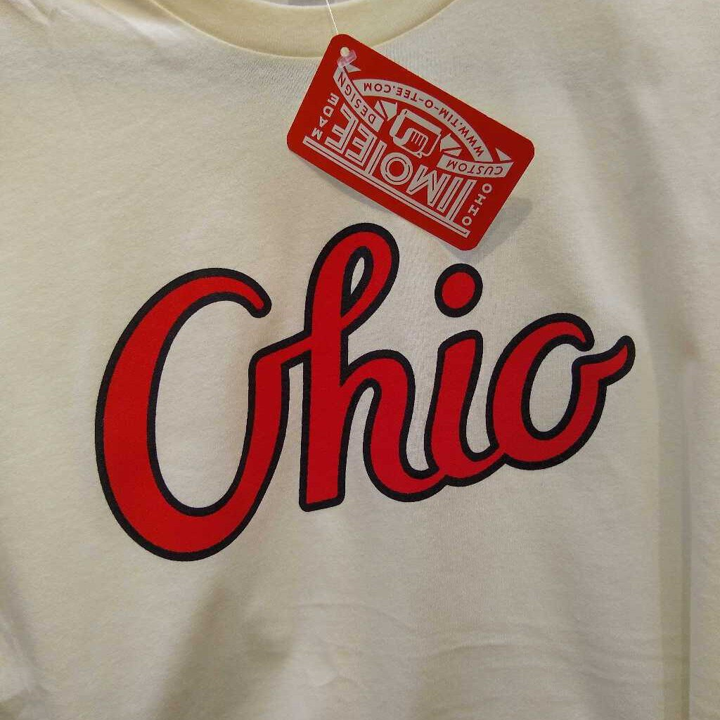 TFD-08 Ohio Script Red on Natural S