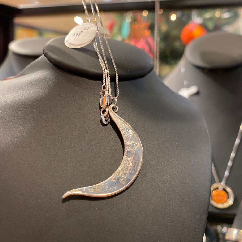 Crescent Quarter Necklace