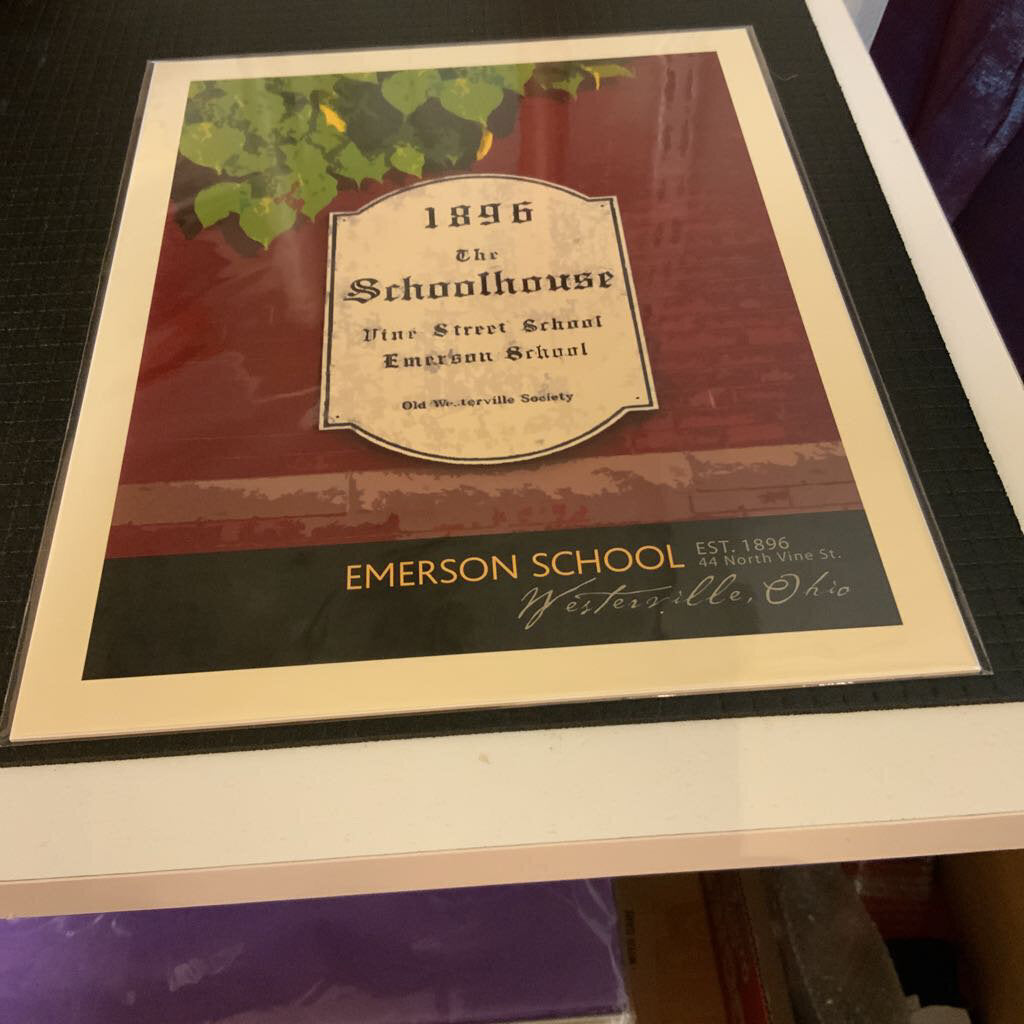 8x10 Print Emerson School Sign