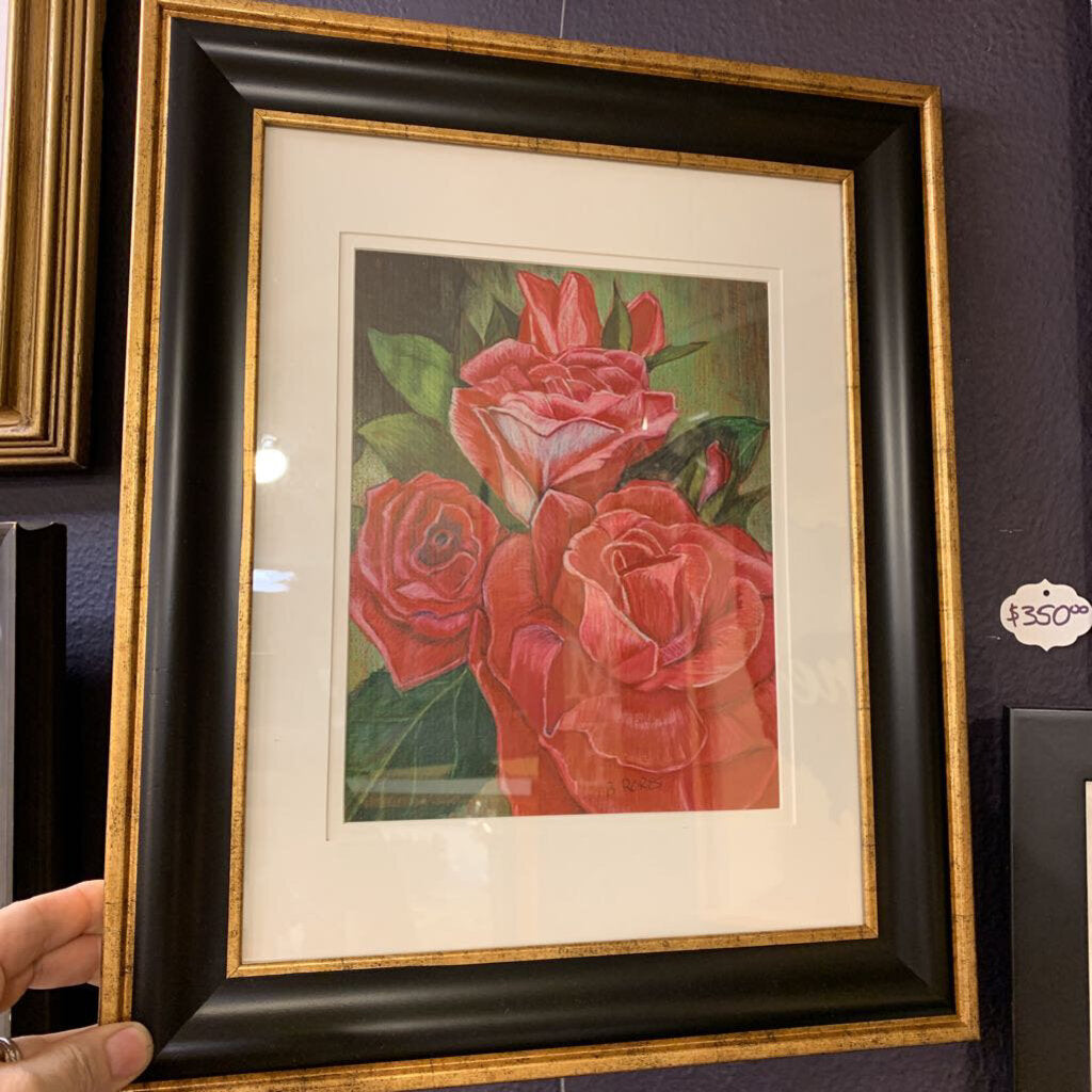 Dusty Rose Framed Color Pencil
