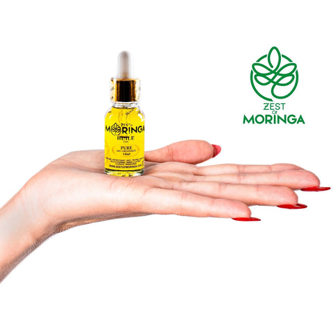 Moringa Miracle Organic Seed Oil for Eczema, Acne, Psoriasis,Dermatitis, Wrinkle & Fine Line Reduction, Sun Spots, Dark Circles